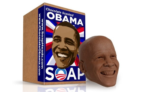 Шоколадное мыло Obama Soap Head in Chocolate Scent
