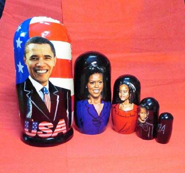 Патриотические матрешки 'Obama family' от Brusesa