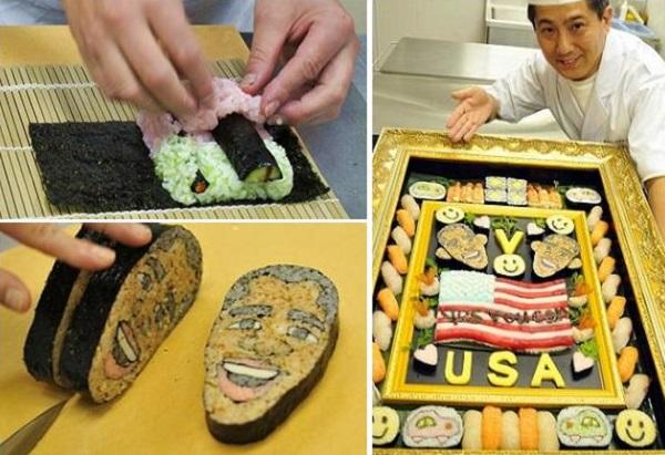 Обама-суши от Ken Kawasumi