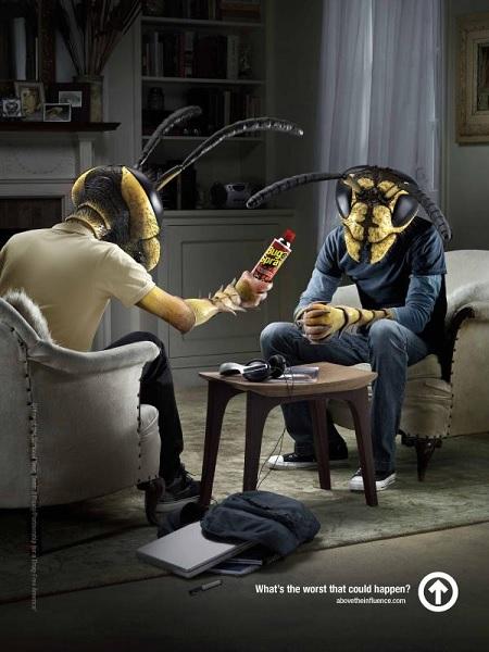Социальная реклама против наркотиков, подготовленная Above the Influence