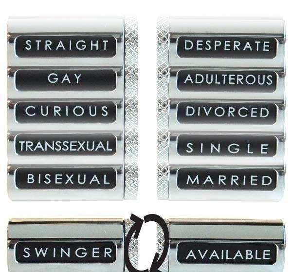 Sexuality Cufflinks от Robert Tateossian - запонки для пребывающих в активном поиске