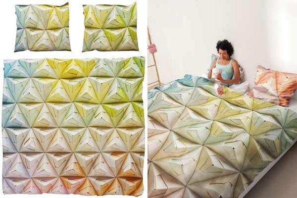 Geogami - постельное белье в стиле оригами от Snurk