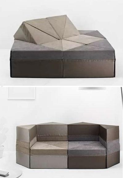 Многозадачный диван Cubel Sofa в стиле оригами