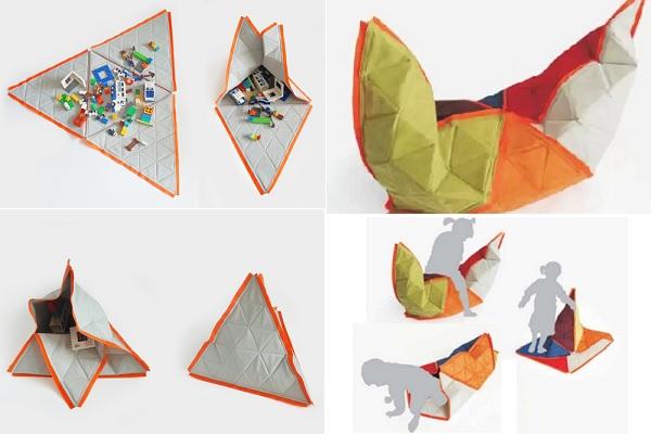 Polimata - детский коврик-оригами от Wiktoria Szawiel