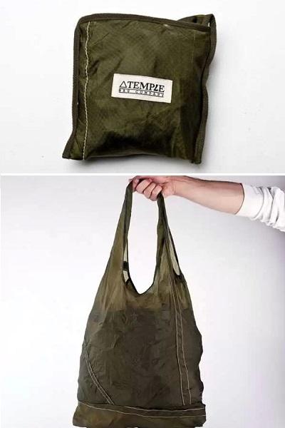 Temple Parachute Tote - дизайнерская эко-сумка из парашюта времен Второй мировой войны