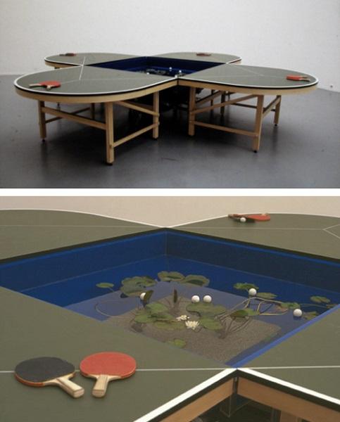 Ping Pond Table - необычный дизайнерский столик для игры в пинг-понг и медитаций