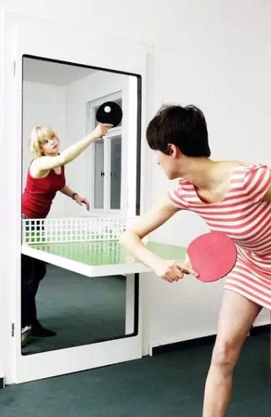 Необычный дизайнерский столик для игры в пинг-понг от Tobias Franzel