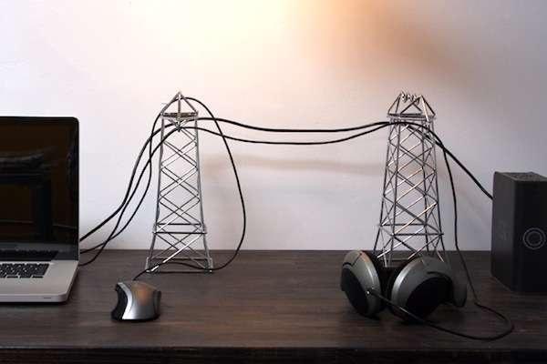Power Lines proudly - мини-ЛЭП для рабочего стола от Daniel Ballou