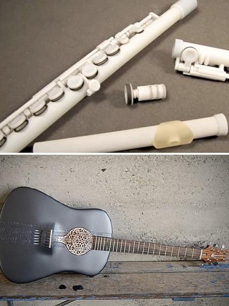 Музыкальные инструменты, распечатанные на 3D принтере