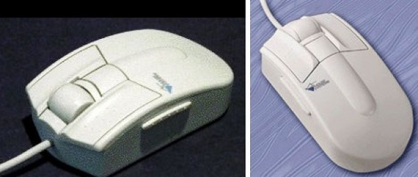 Pro-agio/Easyscroll mouse - первая в мире мышь с колесиком от Genius, 1995 год
