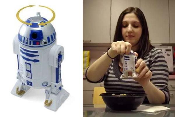 Мельница для приправ, сделанная в виде R2-D2