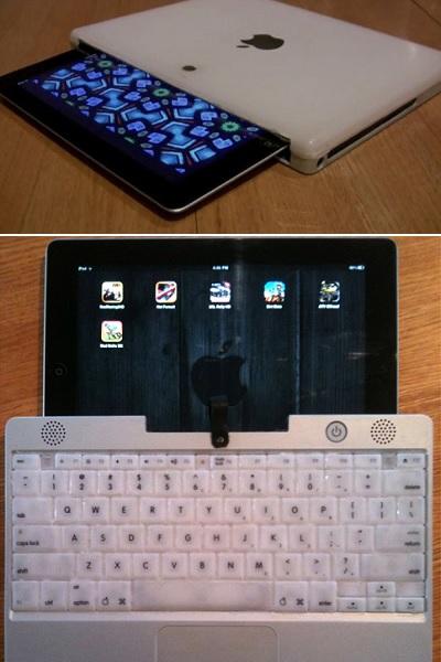 Recycled iBook iPad Sleeve - креативный чехол для iPad, сделанный вручную из старого MacBook