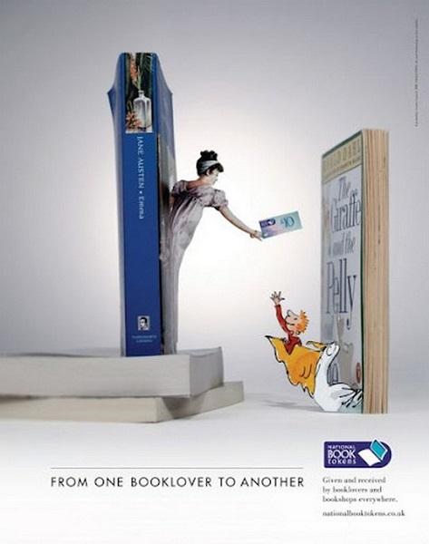 Креативная реклама чтения от National Book Tokens