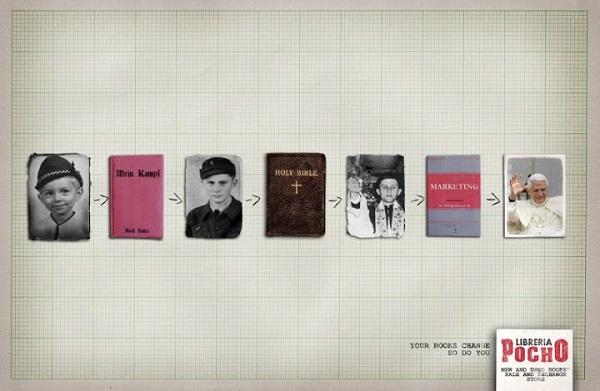 Креативная реклама чтения от Libreria Pocho