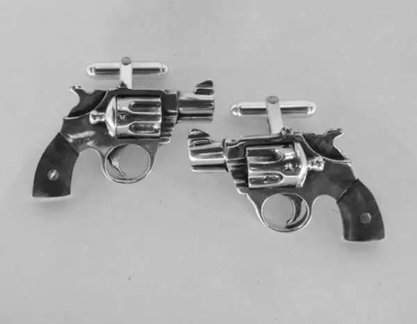 Запонки-револьверы от MetalCoutureJewelry
