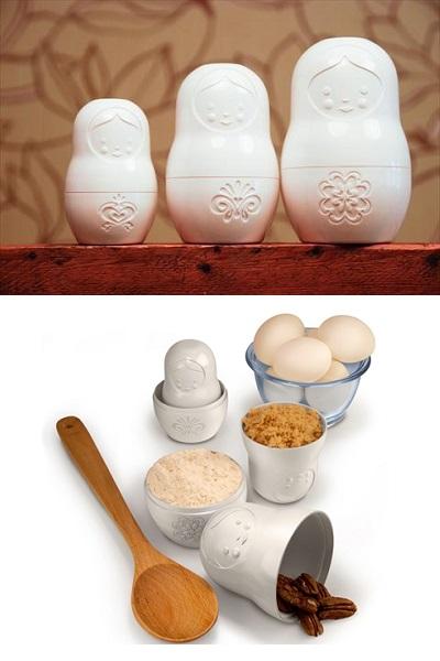 Jodja Product Design - контейнеры и мерные стаканы в форме матрешек