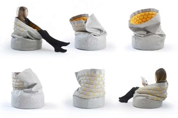 Snug - умеющее закрываться уютное кресло от Kumeko Secrets