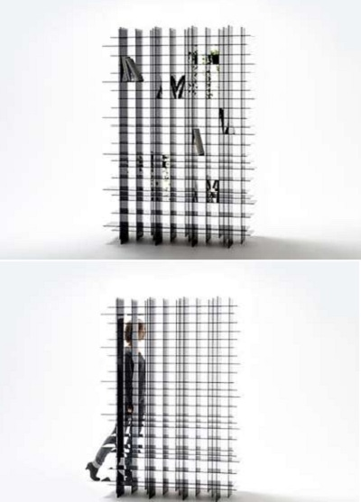 Стеллаж Scatter Shelf - оптическая иллюзия в работе креативщиков из Nendo