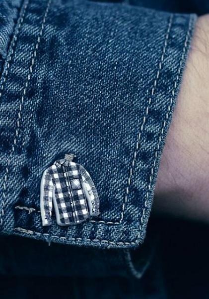 Суровые запонки Lumberjack Shirt Cufflinks