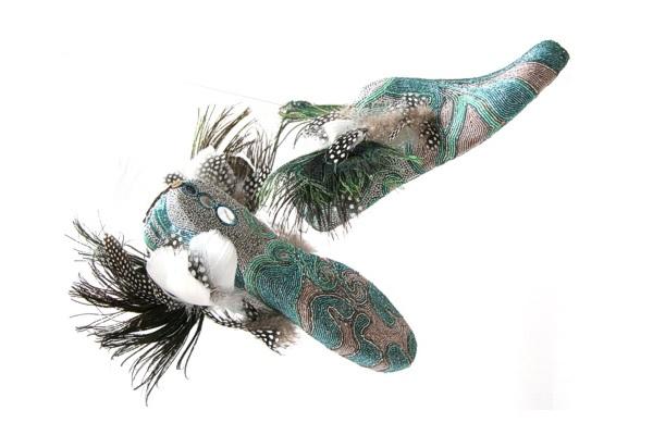 Украшенные бисером балетки от Марины Демпстер