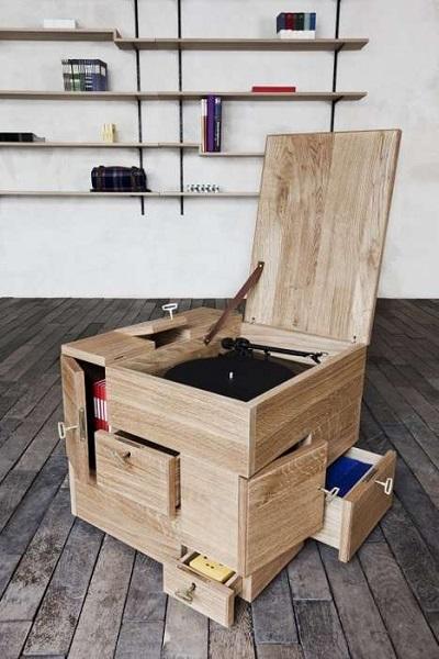 Shrine Cube - кубический комод с секретами от Sigurd Larsen
