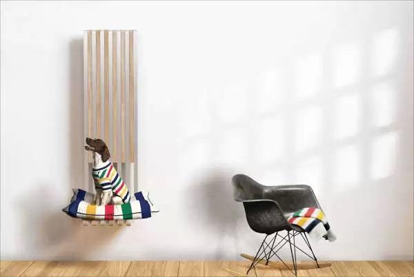 Кресло-обогреватель Slice Radiator Chair  - идея оригинального и функционального настенного декора от Burak Kocak