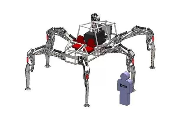 Робот-паук Stompy Robot - концептуальное транспортное средство от Project Hexapod