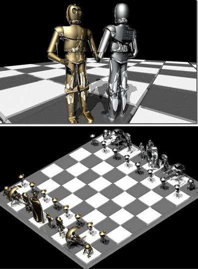 Концепт Star Wars Droid Chess Set - необычные шахматы от Rex Abergas