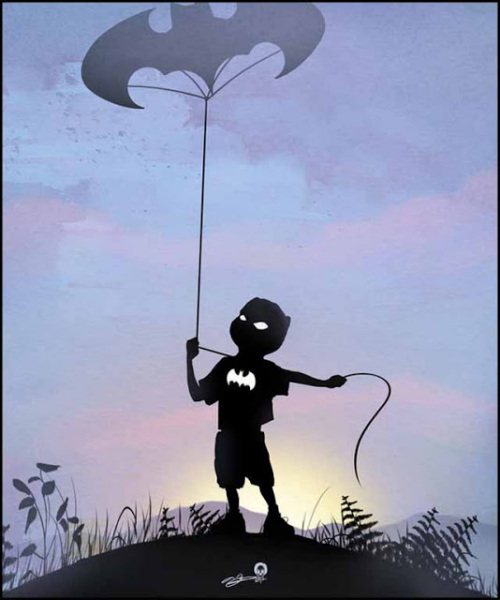 Маленький Бэтман из серии 'Hero Kids' от Andy Fairhurst