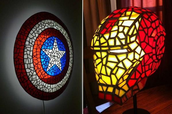 Лампы 'Щит Капитана Америка' и 'Железный человек' от Michael McLane