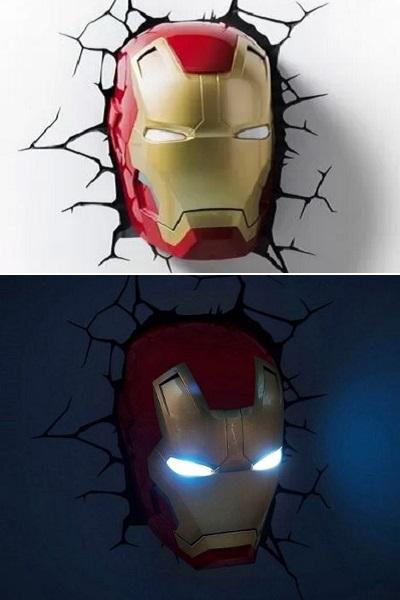 Ночник Superhero night light - пример оригинального настенного декора в супергеройском стиле