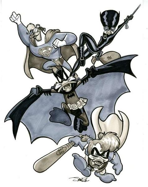 Диснеевские персонажи в роли супергероев на рисунке James Silvani