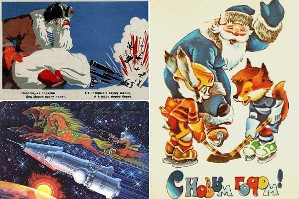 Многообразие советских новогодних открыток