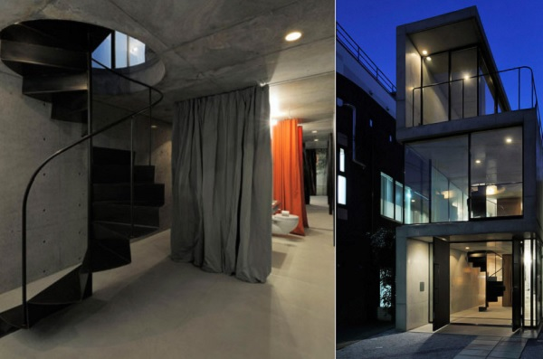 Узкий извилистый дом в Токио от студии Florian Busch architects