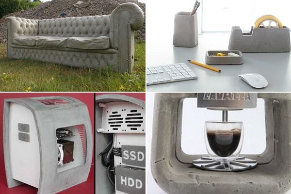 Бетонная мебель и техника от современных дизайнеров
