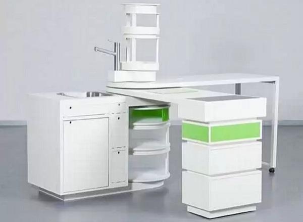Концепт 360 Mobile Kitchen -  компактная кухня-стол от немецких дизайнеров