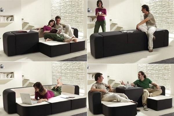 Софа-трансформер Cafe&Leche - компактная мебель от Ebuala