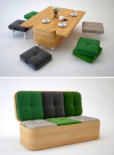 Диван-тансформер Convertible Sofa - компактная мебель от Юлии Кононенко