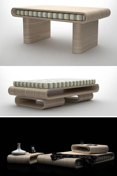 Tavoletto Collection - модульная мебель от Federico Floriani