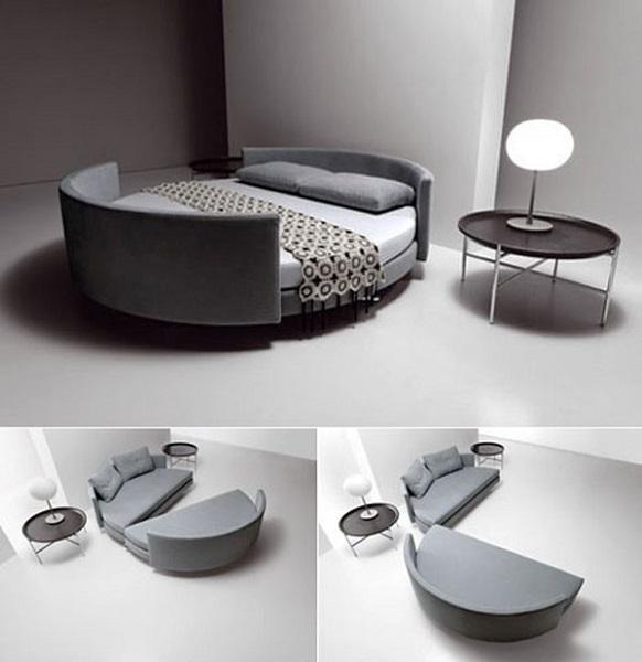 Кровать-два дивана Circular sofa bed от Saba