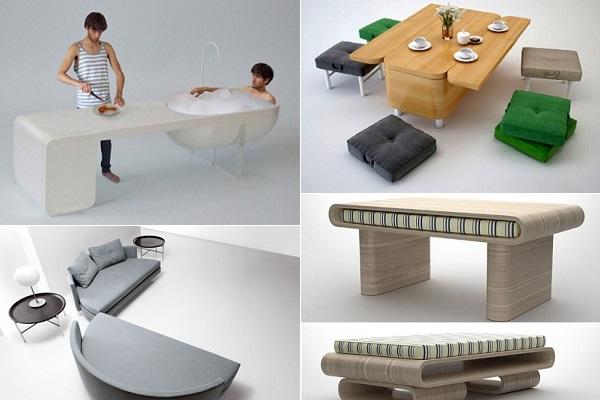Компактная и складная мебель, не посягающая на жилое пространство