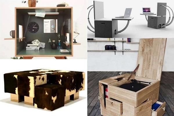 Практичная кубическая мебель для работы и отдыха