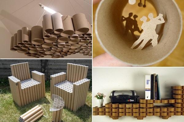 Креативные hand made изделий с применением картонных трубок