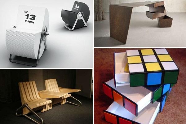 Практичная и креативная мебель с вращающимися деталями