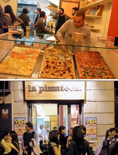 La Pizzateca - необычный книжный магазин-пиццерия в Мадриде