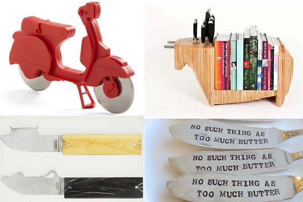 Креативные дизайнерские решения на тему столовых ножей