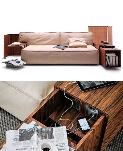 My World Couch - высокотехнологичная мебель для любителей гаджетов