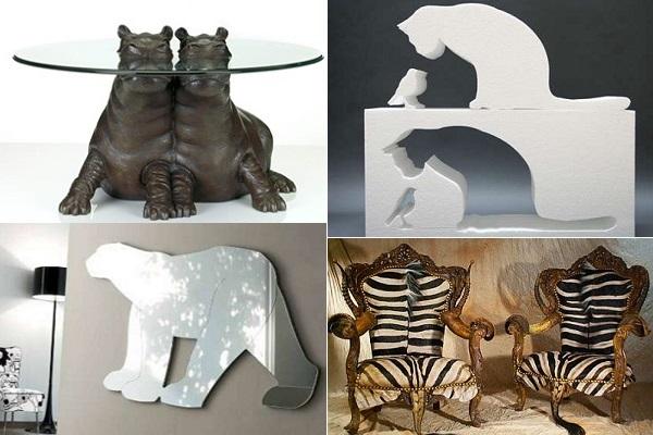 Примеры стильной, забавной и пугающей мебели в виде животных
