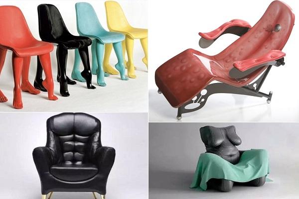 Оригинальные стулья и кресла, вдохновленные человеческим телом