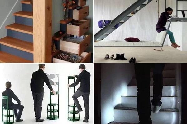 Примеры оригинальной ступенчатой мебели от современных дизайнеров